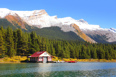 Maligne lake in Jasper national park Canada