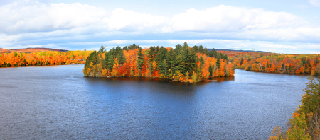 Panoramic view of Riviere Saint Maurice in Quebec