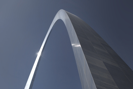 Close up view of St Louis arch