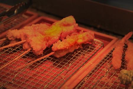 Chicken and shrimp tempura sticks