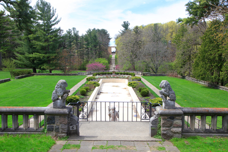 Gardens at historic Cranbrook house in Michigan