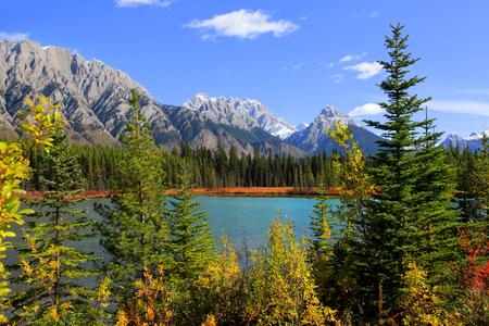 Autumn landscape in Banff national park