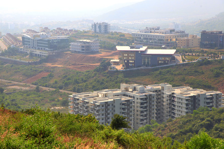 Visakhapatnam, INDIA - December 9 : Suburbs of Visakhapatnam city booming IT hub which is largest city in newly bifurcated Andhra Pradesh state in India, On December 9,2015 Visakhapatnam, India