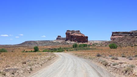 Rural desert drive in Utah south east