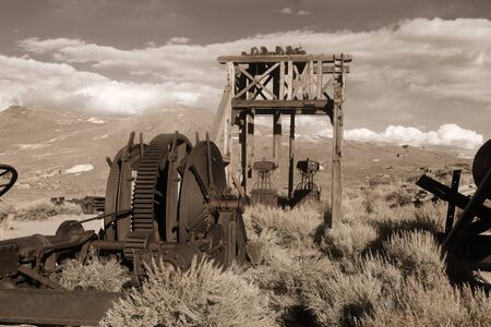 Preserved historic structure in Bodie California