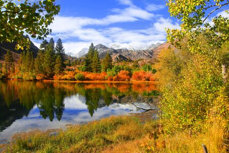 Autumn in eastern Sierra mountains