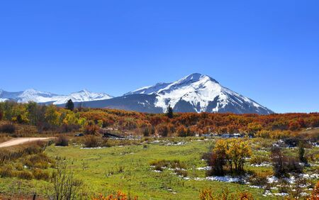 Scenic landscape along Kebler pass in Colorado