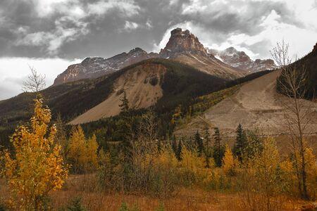 Scenic autumn landscape in Yoho National park in British Columbia