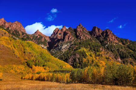 Scenic autumn landscape near Aspen colorado Reklamní fotografie