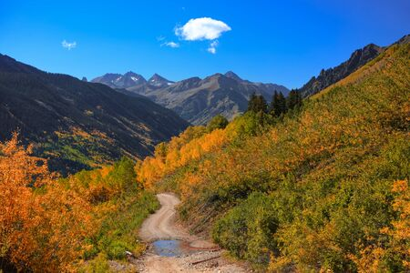 Rough road to Ophir pass in Colorado