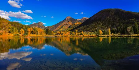 Panoramic view of Beaver lake near Marble Colorado