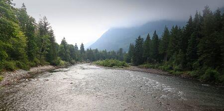 Skykomish river landscape in North Cascades national park