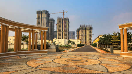 Construction of tall apartment homes and villas, at Vijayawada, India