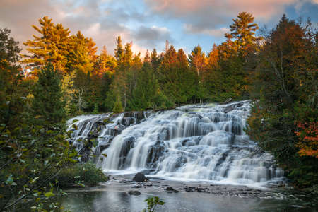 Scenic Bond falls near Paulding in Michigan Upper peninsula