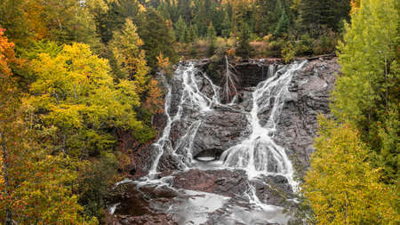Eagle river falls near Eagle river city, Keweenaw peninsula in Michigan upper peninsula. Standard-Bild