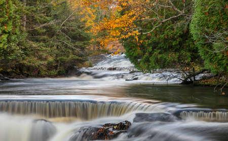 Scenic Upper Bond falls near Paulding in Michigan Upper peninsula