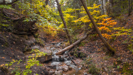 Small water falls in Michigan upper peninsula countryside