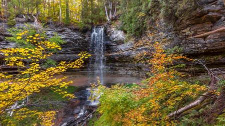 Scenic Munising falls in Michigan upper peninsula