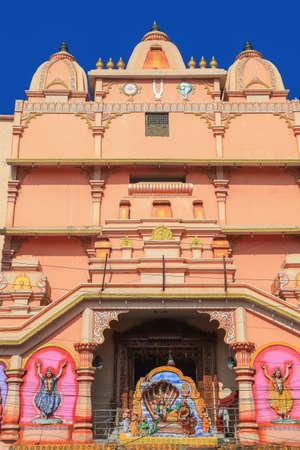 Tall Hindu temple in Visakhapatnam , India.