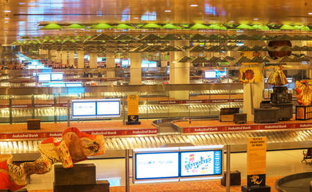 MUMBAI INDIA - Dec 23 2018, International baggage claim floor at Chatrapati Shivaji International Airport. Terminal 2. Editorial