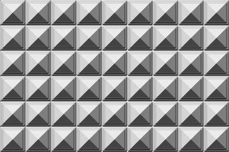 Illustration of metallic tiles background