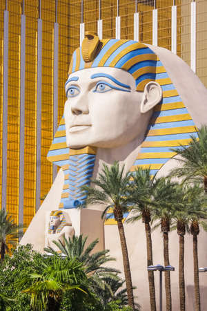 LAS VEGAS - JULY 20, 2009 : Statue of Sphinx in front of Luxor Hotel Casino, the most recognizable hotels on the popular Vegas strip.