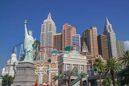LAS VEGAS - JULY 20, 2009 : Exterior view of New York - New York casino in Las Vegas theme of New York skyline.