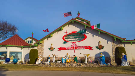 Frakenmuth, MI /USA - December 29, 2020: Bronners Christmas Wonderland in Frankemuth, Michigan is worlds largest Christmas store. Editorial
