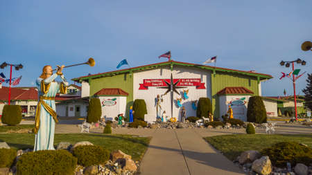 Frakenmuth, Michigan - December 29, 2020: Bronners Christmas Wonderland in Frankemuth, Michigan is worlds largest Christmas store.