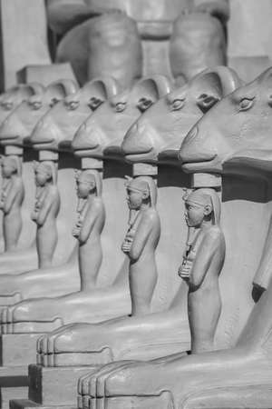 LAS VEGAS - JULY 20, 2009 : Detail Architecture of Luxor Hotel Casino replica of Egyptian theme.