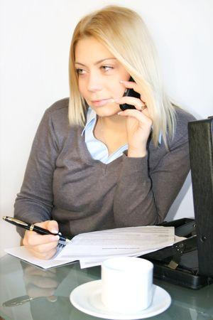 woman handle success: Business woman