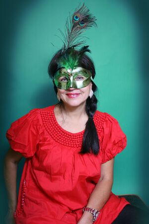 A woman in a mask photo