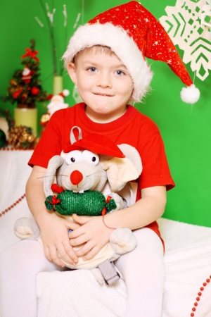Boy Santa Claus photo