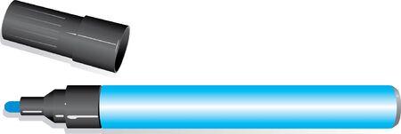 felt tip: blue felt tip marker pen