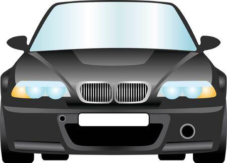 Front Luxus schwarzes Auto