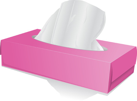 tissues: tissue box with handkerchiefs Illustration