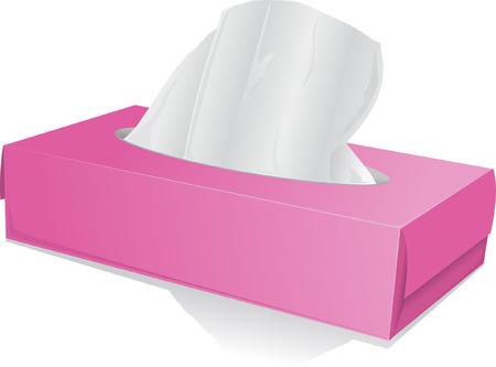 tissue box with handkerchiefs Stock Illustratie