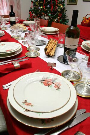 A table setting for celebration (christmas,weddings) Stock Photo