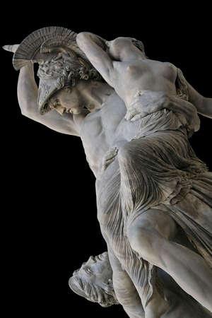 Pio Fedis Rape of Polyxena - a neoclassics masterpiece. Florence,Tuscany, Italy