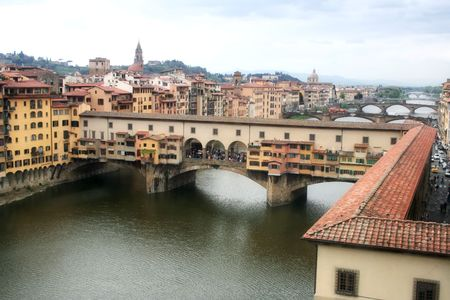 Ponte Vecchio (Old Bridge) in Florence, Italy Stock Photo
