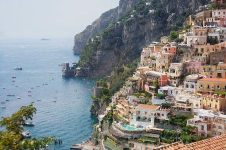 Positano city, on the Amalfi Coast of Italy Stock Photo - 591283