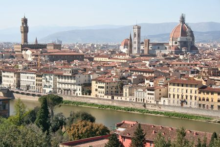A panoramic view of Florence,Tuscany,Italy