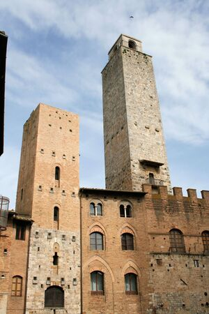 San Gimignano with its tall towers in Tuscany, Italy photo