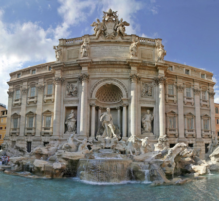 Trevi fountain in Rome, Italy..A baroque masterpiece.