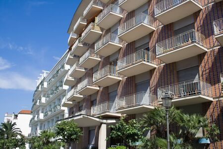 Modern multi-apartments building in Sorrento, Italy Stock Photo