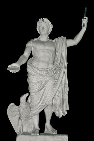 Antica statua di Giulio Cesare, Roma, Italia.