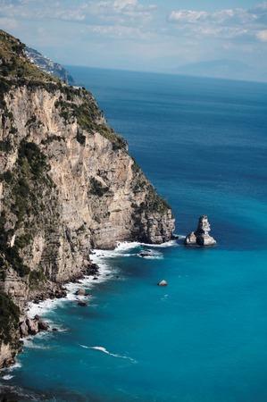 Amalfi Coast near Positano in Southern Italy. UNESCO World Heritage Site.