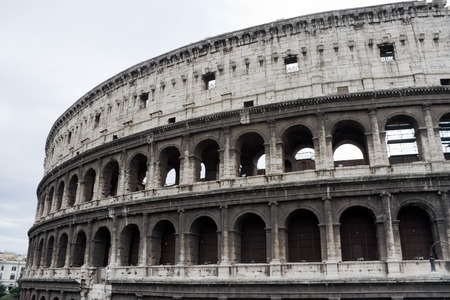 The Colosseum, famous ancient ampitheater in Rome, Italy. Unesco World Heritage site.
