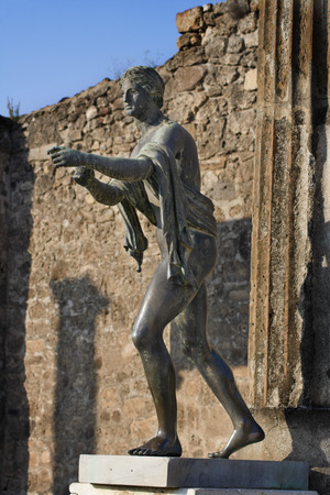 Statue of Apollo in Temple of Apollo, Pompeii, Italy