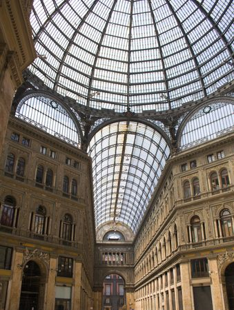 Galleria Umberto I, a 19th century public gallery in Naples, Italy